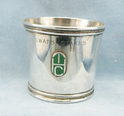 Vintagetiffany And Co. Solid Sterling Silver Derby Mint Julep Cup W/monogrammed