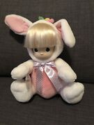 Precious Moments Belinda Bunny 1753 Pink And White With Tags Very Rare Htf