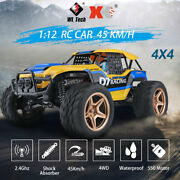 1/12 Rc Car 4wd 45km/h Desert Rock Racing Crawler Truck Off Road 2.4ghz Toy Gift
