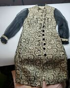 Dynasty Vintage Black And Gold Dress British Crown Colony Of Hong Kong Size 8