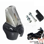 Motorcycle Front Black Headlight Fairing W/ 15'' Windshield Cover For Dyna Bob
