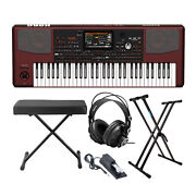 Korg Pa1000 Arranger Keyboard With Bench And Stand Accessory Bundle