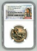 2018 S Sacagawea 1 Jim Thorpe Reverse Proof Ngc Pf 70 First Releases R3