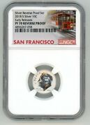 2018 S Silver Roosevelt Dime 10c Reverse Ngc Pf 70 Early Releases Trolley R10