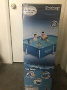 New Bestway 8.5ft X 5.6ft X 2ft Pro Rectangular Above Ground Swimming Pool Only