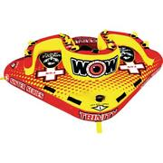 Wow Towable Tube Lake River Float Lounge Water Heavy Duty Inflatable Outdoor New