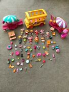 Mini Lalaloopsy 11 Dolls Bus 2 Shops And Lots Of Pets And Accessories.