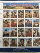 """Recalled """"legends Of The West"""" Sheet Of 20 Stamps"""