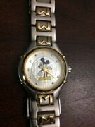 Womens Mickey Mouse Watch The Disney Store Silver And Goldtone Unique M On Band