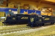 Kankakee Beaverville And Southern Gp-38 703 Doug N-scale Custom Painted