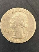 1969 Washington Quarter - Weighs 5.58grams. Appears To Be On Nickel Planchetteandnbsp
