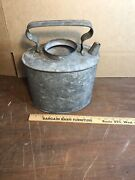 Vintage Erie Rr Railroad Water Galvanized Can