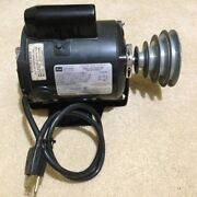 Sears Craftsman Capacitor Start Ac Motor And Pulley 113.1289 Lathe Saw Drill Press