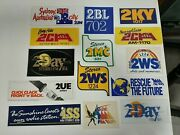 Vintage Lot Of 14 Assorted Radio Station Stickers