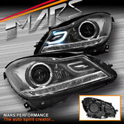 Amg C63 Style Projector Drl Head Lights For Mercede-benz C-class W204 C204 11-14