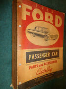 1960 Ford Car Parts And Accessories Catalog / Orig. Book Galaxie Falcon T-bird++