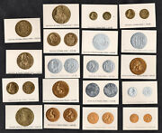 Coins Of Spain 1929 Rare German Card Set Money Profiled Foil Silver Gold Copper