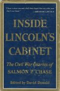 Salmon Chase Diary Inside Abraham Lincoln's Cabinet 1954 Hc 1st Ed Vg/good Cond