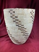 Antique Collectible Papago Native American Large Basket 15 H X 12 W B418
