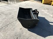 New 48 Heavy Duty Clean Up Bucket For A Takeuchi Tb175 W/ Coupler Pins