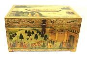 Hand Painted Jewelry Box Jewelry Box Vintage Camel Bone Indian Home Decorative