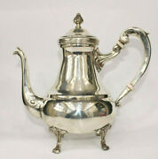 Vintage Egyptian 900 Solid Sterling Silver Tea Coffee Pot Stamped 748 Gr