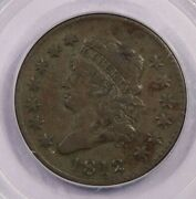1812-p 1812 Classic Head Cent Pcgs Vf35 Old Green Holder