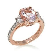 Jean Dousset Blush Morganite And Absolute Rose Gold Vermeil Ring 3.04cttw Sz 8