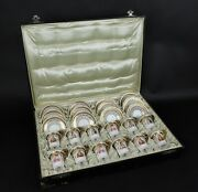 Antique Box With 12 Cups And 12 Saucers Napoleon.