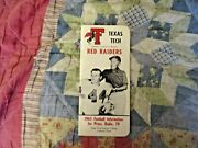 1965 Texas Tech Red Raiders Football Media Guide Yearbook Donny Anderson Program