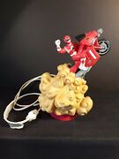 Mighty Morphin Power Rangers Red Ranger On Motorcycle Lamp Works