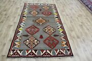 Old Handmade Persian Tribal Rug 232 X 124 Cm Hand Knotted Wool Rug