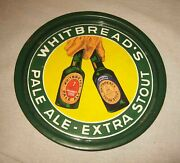 C1920s - 1930s Whitbread's Pale Ale Extra Stout 5 Color Porcelain Beer Tray