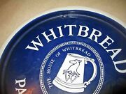 C1920-1930s Whitbread Pale Ale Extra Stout Blue And Wh Mug Porcelain Beer Tray