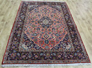 Old Handmade Persian Rug Fine Floral Design 215 X 145 Cm Hand Knotted Wool Rug