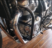 Royal Enfield Large Engine Guard Black For Interceptor 650 And Continental 650