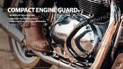 Royal Enfield Compact Engine Guard Black For Interceptor 650/continental Gt 650