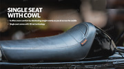 Royal Enfield Single Rider Seat With Magic Black Cowl For Continental Gt 650