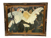 Vintage Large Jessie Arms Botke Cockatoos Nicely Framed Art Lithograph 48andrdquox38andrdquo