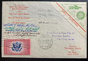 1936 Reynosa Tamps Mexico First Rocket Flight Mail Cover To Mcallen Usa Signed K
