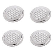 4pcs 4in Louvered Boat Yacht Air Vents Caravan Air Ventilation Hole Cover