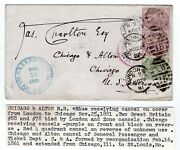 London 1881 To Chicago, Il - Chicago And Alton Railroad Receiving - Beautiful