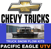 88 X 26 Pro Shovel Snow Plow Kit W/ An Actuator Lift System For Chevy Trucks