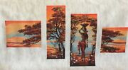 Handmade Finished Counted Cross Stitch Orange River Unframed
