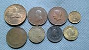 World Old Coins Mexico 8 Coin Lot Random Year's Centavos Large And Small Coins