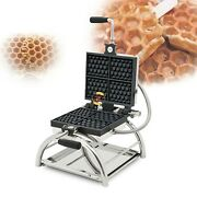 Commercial Nonstick Electric Rotated 4pc Honeycomb Waffle Pop Maker Iron Machine