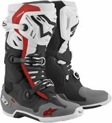 Alpinestars Tech 10 Supervented Mx Offroad Boots Black/white/gray/red