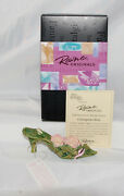 Just The Right Shoe By Lorraine Vail Shoe Miniatures- Courageous Rose Signed Nib
