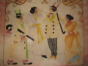 Antique Rare Victorian African American Tapestry Dance Top Hat Bow Tie Cane