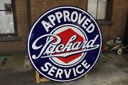 1930s Packard Approved Service Double-sided Porcelain Sign By Walker And Co